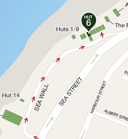 Map to Hut 6 (click to expand)