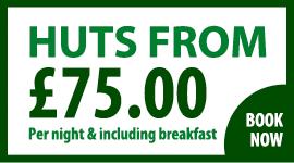 Huts from £75 per night