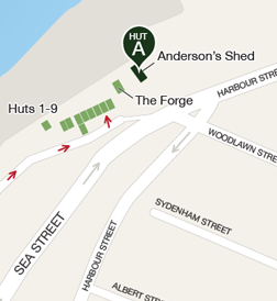 Map to Anderson Shed (click to expand)